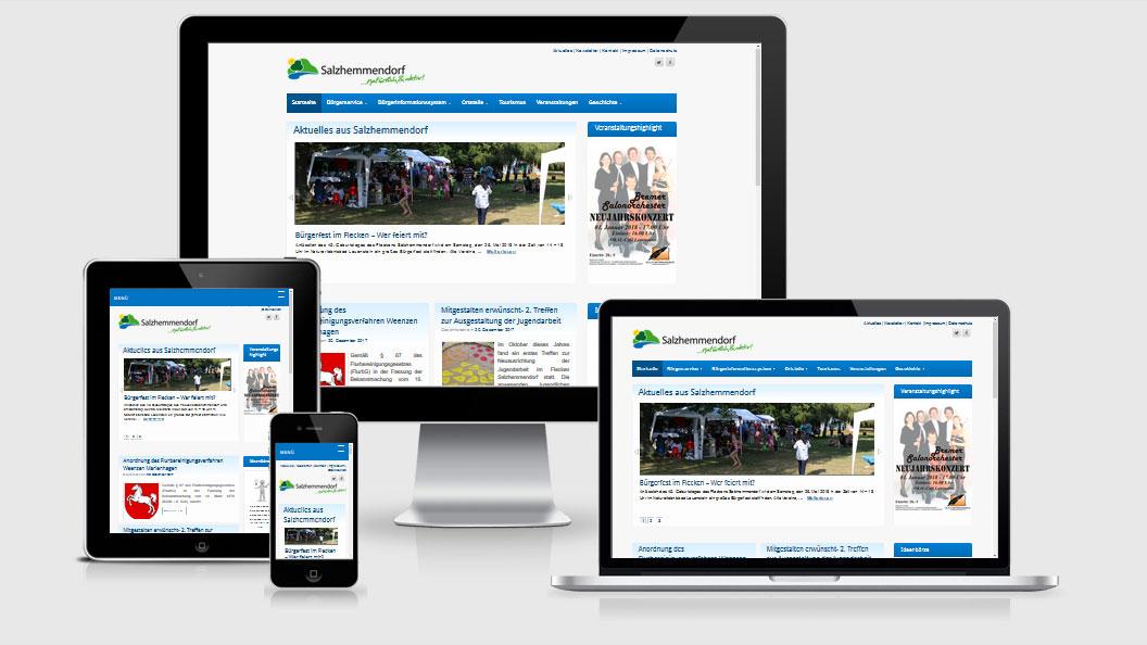 Website des Fleckens Salzhemmendorf