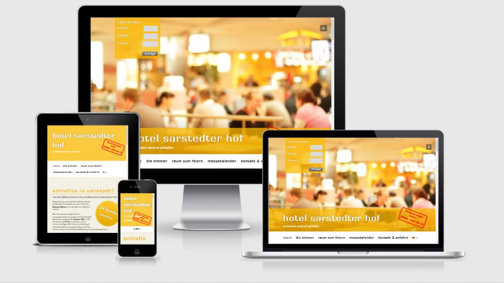 Website des Hotels Sarstedter Hof