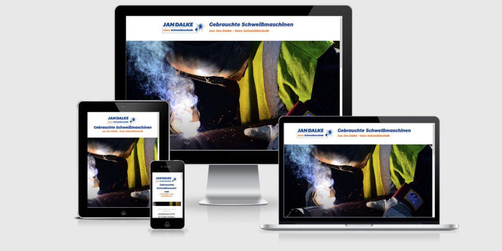 Landing Page der Firma Imex Dalke