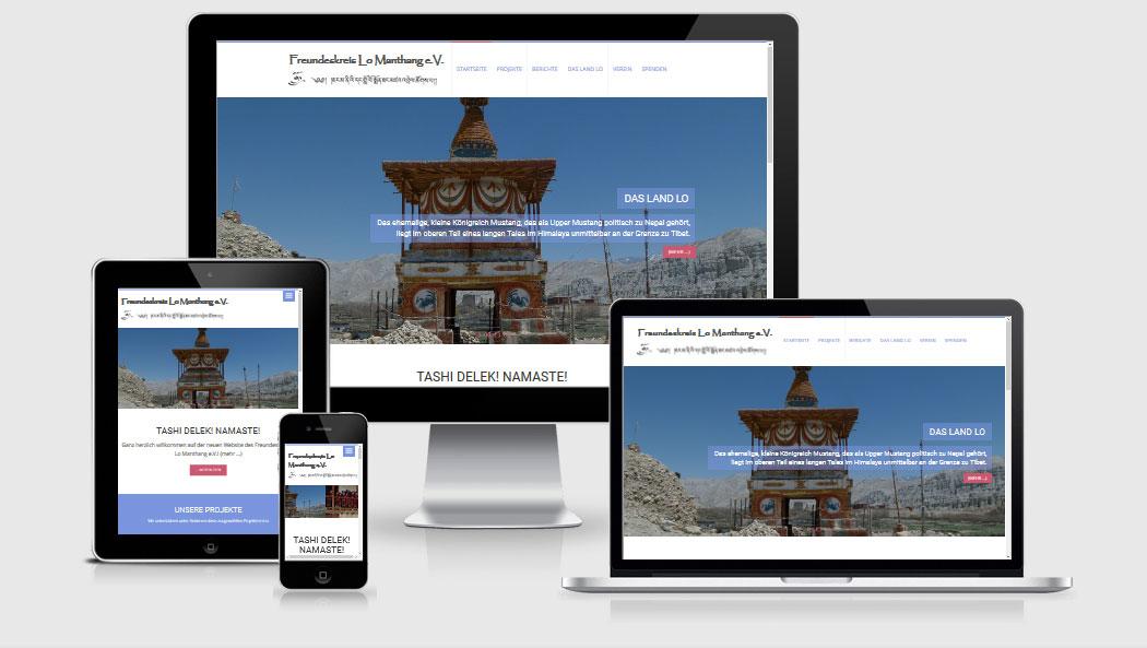 Screenshot Lo Manthang Website
